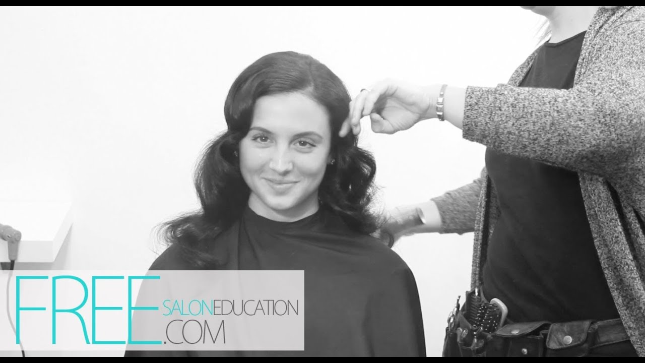 How to Finger Wave Long Hair | Long Hairstyles | Dry Wave Set Using Clip-less Curling Iron