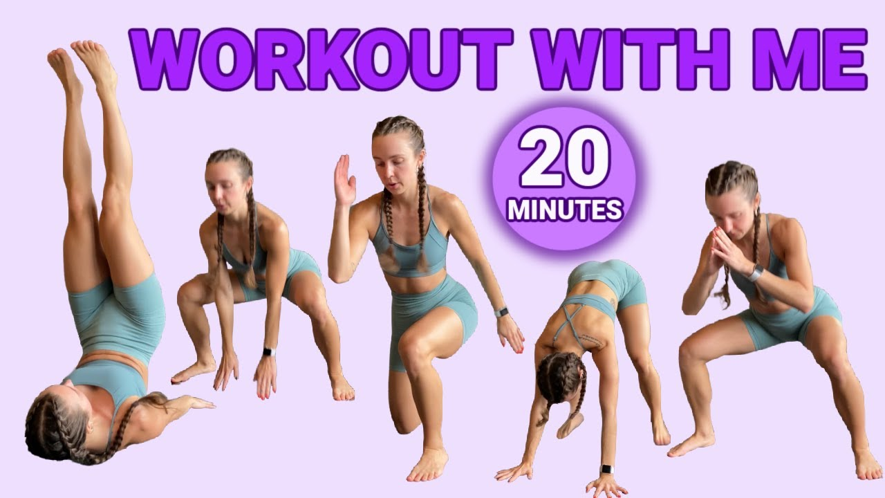 20 MIN AT HOME WORKOUT | no equipment, real time HIIT cardio