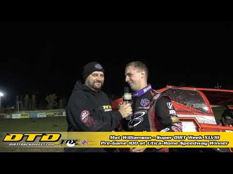Mat Williamson Wins Pre-Game 100 at Utica-Rome Speedway