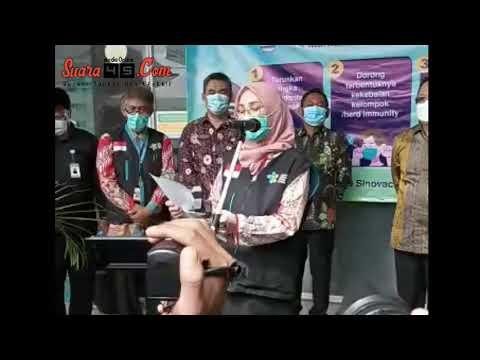 Pencanangan Vaksinasi Perdana Pemkab Bekasi Sebanyak 12000 Dosis