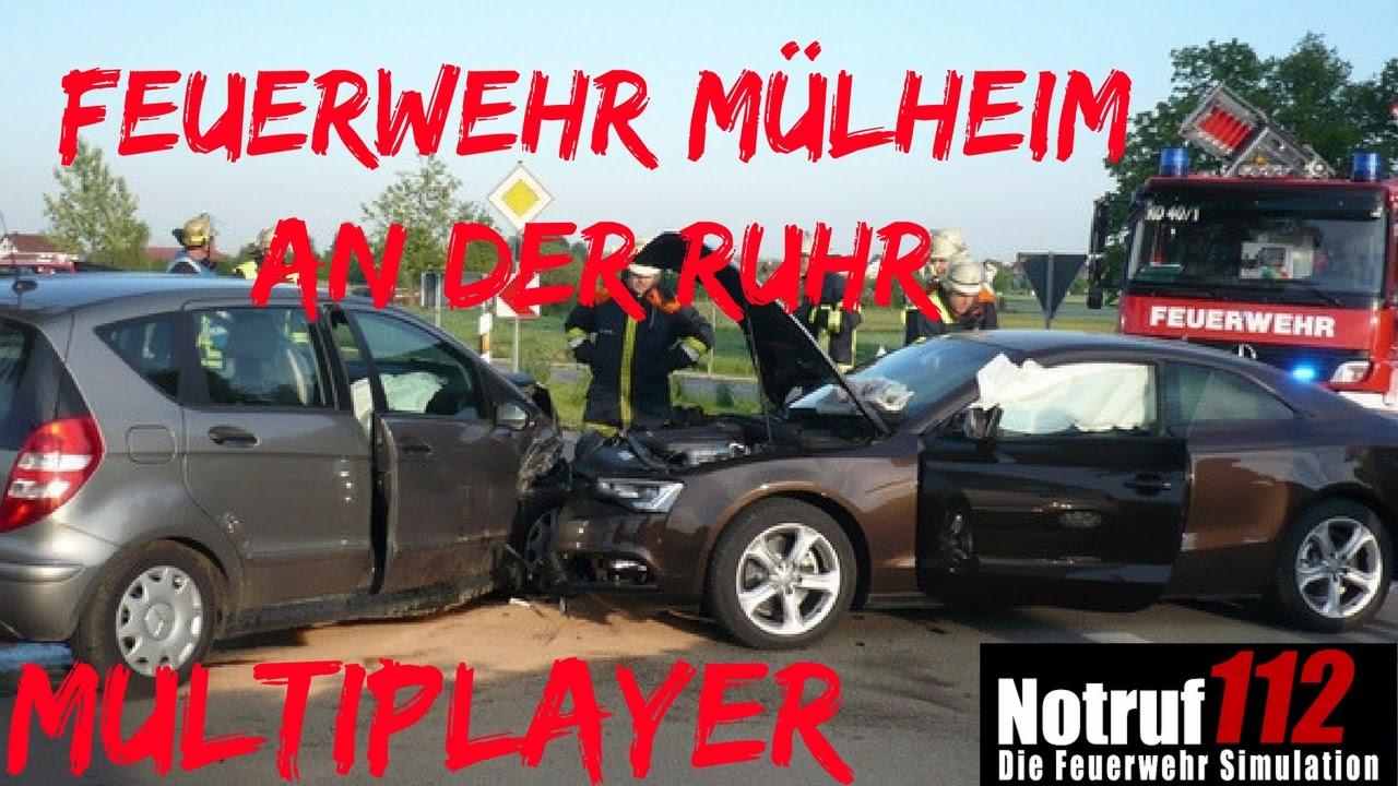 Feuerwehr Mülheim an der Ruhr Autounfall mit folgen!!!!Notruf 112 ...