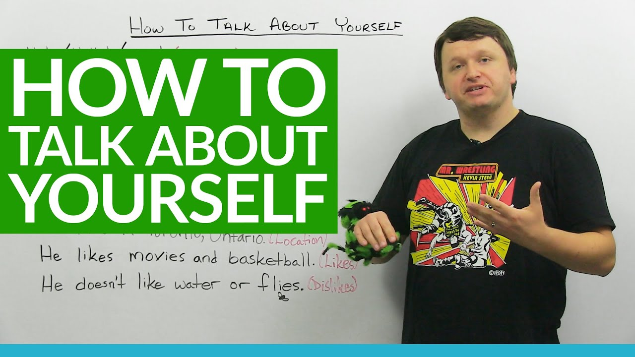 Basic English Lesson How To Talk About Yourself Youtube