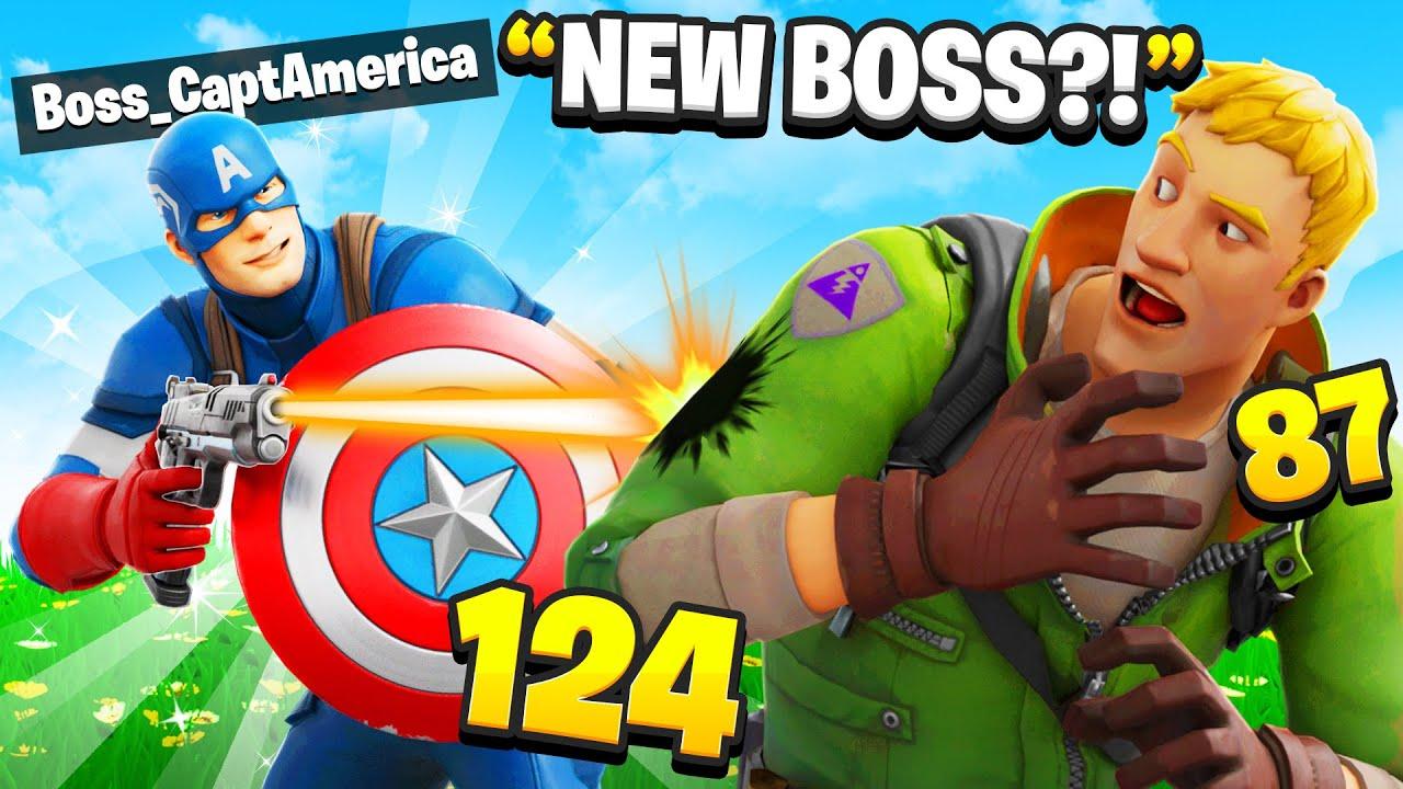 I Pretended To Be BOSS Captain America In Fortnite
