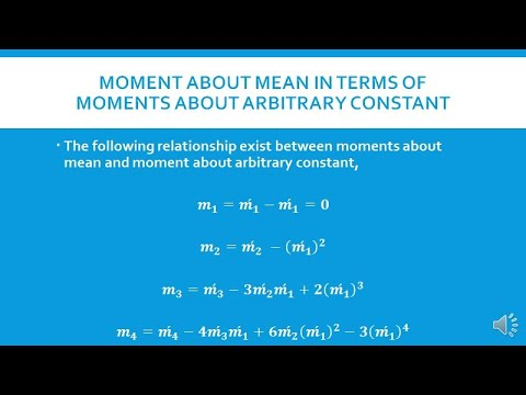 Moments about arbitrary constant,their relation with