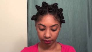 Bantu Knot Out on Wet Hair: CURLS Products