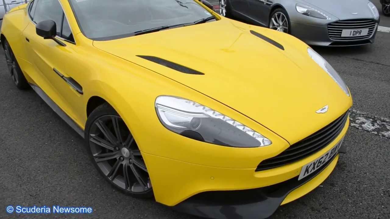 Rare Yellow 2013 Aston Martin Vanquish Youtube