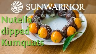 Vegan Nutella Dipped Kumquats | Jason Wrobel | Sunwarrior