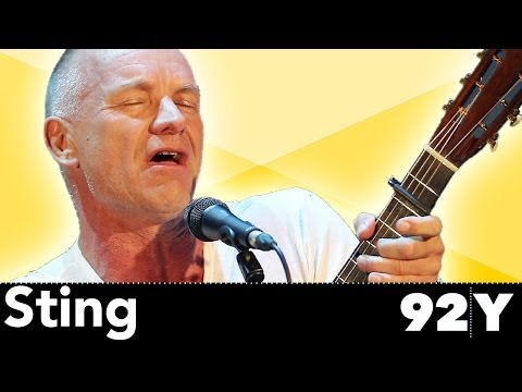 "Reknowned Musician Sting performs ""The Last Ship"" Live at the 92nd Street Y in New York City"