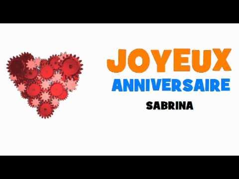 Joyeux Anniversaire Sabrina Youtube