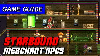 How to attract merchants to Starbound NPC colony | Game Guide [Pleased Giraffe]