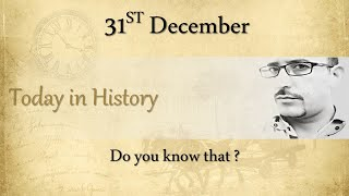 #366 Today in History:  31st December | What happened on this day in History? | Hindi | AV EduTech