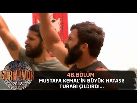 Mustafa Kemal'in büyük hatası! Turabi çıldırdı...   48. Bölüm   Survivor 2018
