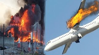 Airplane сrashes | Airplane Crash fatal | Pilot error Compilation 2017 | Aircraft landings Missing | OMG Engineering & Machines