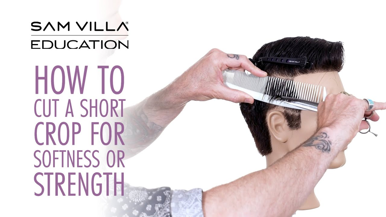 How to Cut a Short Cropped Haircut for Softness or Strength