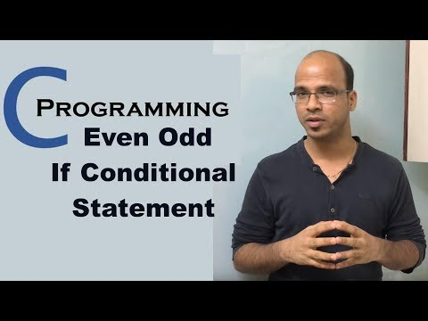 C Programming Tutorial part 6 Even Odd If Conditional Statement