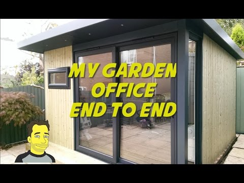 My Garden office Garden roomSummer house Build end to end ManCave or SheShed