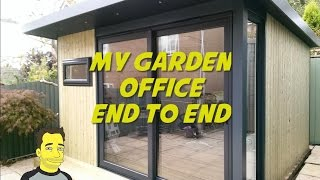 Gambar cover My Garden office Garden room Build end to end  / home office / garden studio