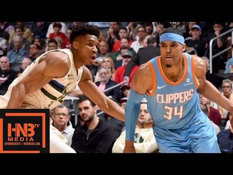 Milwaukee Bucks vs LA Clippers Full Game Highlights / March 27 / 2017-18 NBA Season