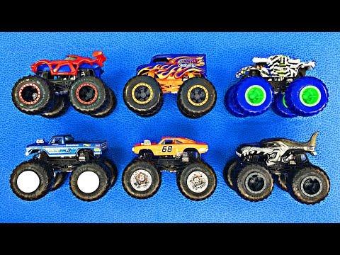 Monster Trucks for Kids - Learn Hot Wheels Monster Truck Names & Colors - Fun Kids Organic Learning