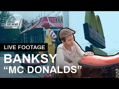"Banksy ""McDonalds"" Live Footage - October 16th"