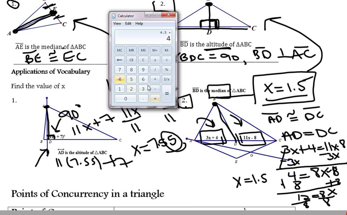 worksheet Special Segments In Triangles Worksheet worksheet special segments in triangles adding and subtracting video lesson youtube watchvfi t 2ndpes triangles