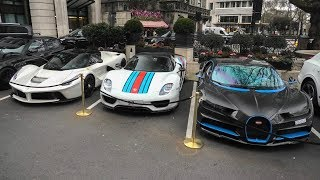Hypercar MADNESS at the Dorchester - London Supercars January 2018