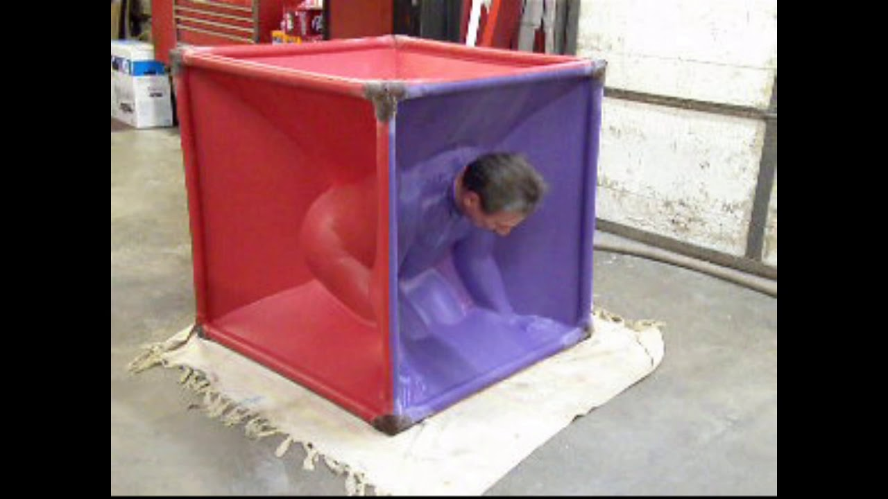Latex vacuum cube