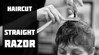 how to short haircut STRAIGHT RAZOR