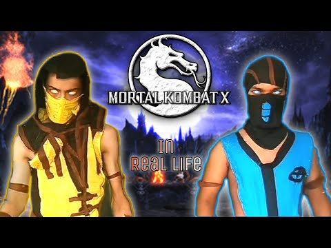 Mortal Kombat X In Real Life. (Scorpion Vs Sub-Zero) Fight.