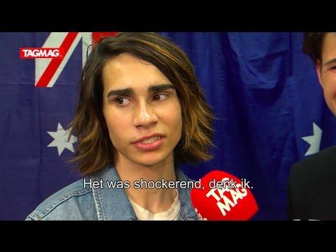 Australië kan niet lachen met streaker op Eurovision