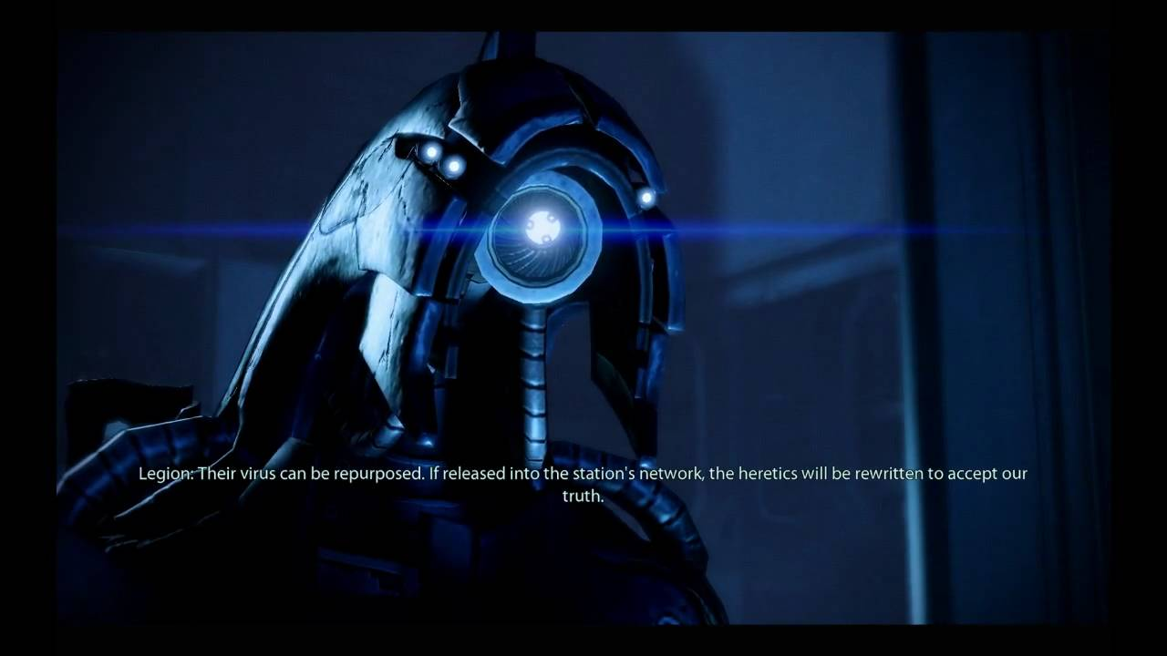 Mass Effect 2 Hd Wallpaper Mass Effect 2 Legion On Brainwashing Youtube