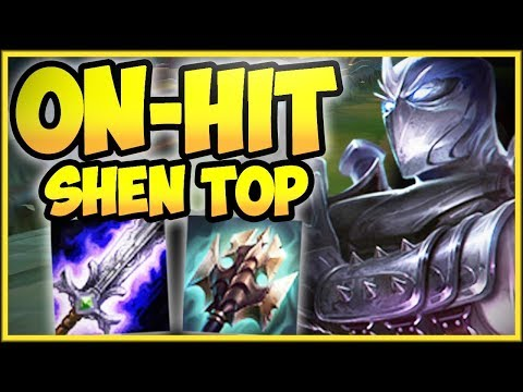TAKE ON THE ENEMY TEAM 1V5 WITH ON-HIT SHEN TOP! ON-HIT SHEN SEASON 8 TOP GAMEPLAY League of Legends