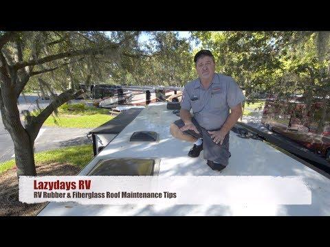 Rv Rubber Amp Fiberglass Roof Maintenance Tips Youtube