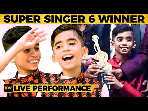 Super Singer 6 Title Winner Hrithik's LIVE Singing Performance - WOW! What a Voice!   SS