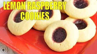 Lemon Raspberry Thumbprint  Cookies, Haniela's