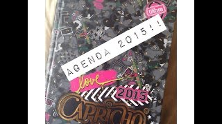 Minha Agenda de 2015! Agenda Capricho!