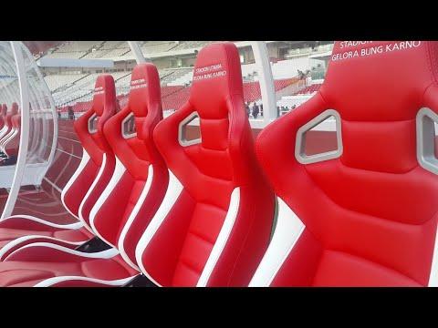 ISTIMEWA STADION UTAMA GBK JELANG FINAL PIALA PRESIDEN 2018 - SUGBK Stadium Indonesia Very Magnifice