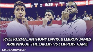 Lakers Summer League: LeBron, AD, & Kuz Arriving at the Lakers vs Clippers Game