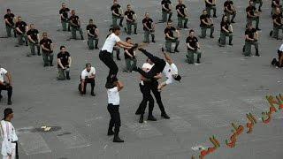 الشرطي هشام ملولي في أقوى استعراض للشرطة الوطنية المغربية | Hicham Mallouli Police Maroc