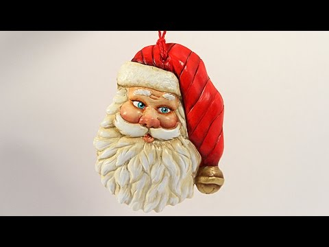 USTREAM REBROADCAST - Painted Plaster Santa Ornament with Barb Owen - HowToGetCreative.com