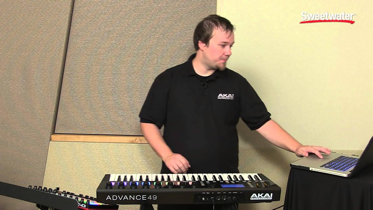 akai professional advance 49 keyboard controller demo by sweetwater youtube. Black Bedroom Furniture Sets. Home Design Ideas