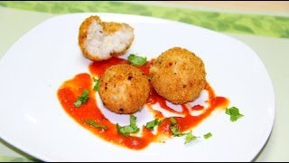 Cheesy Rice Balls Recipe From Left Over Rice | Arancini Recipe