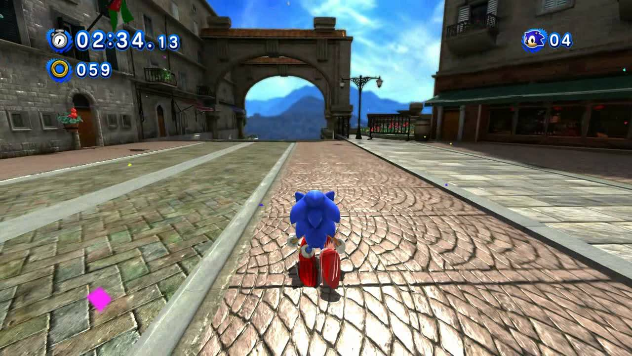 Classic Sonic In Modern Rooftop Run Sonic Generations Youtube