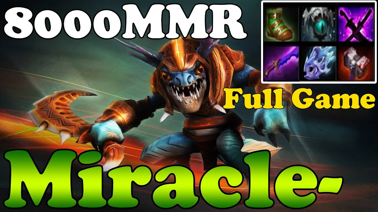 dota 2 miracle 8000mmr plays slark full game ranked match