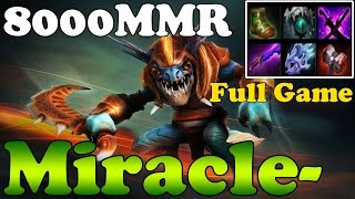 Dota 2 - Miracle- 8000MMR Plays Slark - Full Game - Ranked Match Gameplay