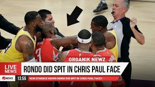 WOAHHHHH!!! RONDO DID SPIT IN CHRIS PAUL FACE!!!