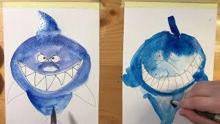 АКУЛА. Рисование для малышей. Рисуем с Илюшей