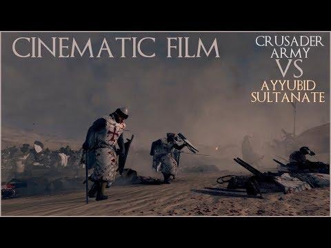 Crusader Army vs Ayyubid Sultanate Cinematic Film (Medieval Kingdoms Total War 1212AD Mod) |