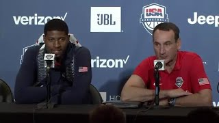 Paul George and Coach K Interview at 2016 USA Basketball Team