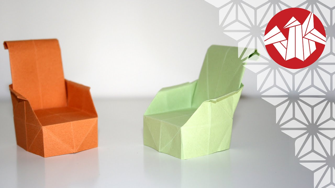 Origami fauteuil senbazuru youtube for Chaise origami